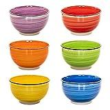 esto24 Design 6er Set Müslischalen Dessertschale 750ml Porzellan in tollen Farben - Das Highlight auf jedem Tisch (Müsli Bunt)