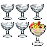 Bormioli Rocco Acapulco Ice Cream Sundae Dessert Vorspeise Cocktail Gläser–Set von 6