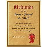Urkunde für den besten Freund der Welt ... (Elefantenhautpapier + Bilderrahmen)