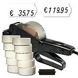 Preisauszeichner Set: Auszeichner Smart 6 für 26x12 inkl. 15.000 HUTNER Preisetiketten weiss permanent + 1 Farbrolle | etikettieren | HUTNER