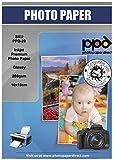PPD 10x15cm Inkjet Fotokarten Fotopapier Glänzend Hglossy Mikroporös Wasserfest für Tintenstrahldrucker 280g Super Premium 10x15 x 200 Karten PPD020-200