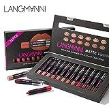12 Farben Wasserfest Matt Lippenstift Set Antihaft Tasse Lippenstift Lipliner, Long Lasting Matte Lippenstift Set