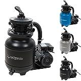 Miganeo 40385 Sandfilteranlage Dynamic 6500 Pumpleistung 4,5m³ blau, grau, schwarz, für Pool Schwimmbecken (Schwarz)