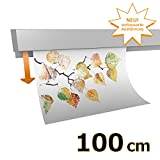 Hang-it Klemmschiene Aluminium - 100 cm - Wandmontage
