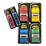 Post-it I680-P6 Index Promotion (4 x 50 Haftstreifen, 25,4 x 43,2 mm plus 2 x 24 Index Pfeile) rot, gelb, blau, grün