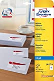 Avery Zweckform J8177-25 Adress-Etiketten (A4, Papier matt, 300 Stück, 99,1 x 42,3 mm) 25 Blatt weiß