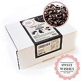 Sweet Wishes 900g Belgische Fondue-Schokolade Zartbitter-Drops - sanft schmelzender Hochgenuss feine Leckerei für Schoko-Brunnen Fondue-Sets - beste Qualität - 10 Portionsbeutel zu je 90 g einzeln verpackt