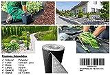 150 g/m² - Reißfestes Premium Unkrautvlies bzw. Gartenvlies: (L) 50m x (B) 1,0 m x (H) 1,3 mm