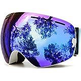 Skibrille Snowboardbrille Doppel Schicht Antifog Spherische UV Schutz Mit Abnehmbarem Objektiv Für Brillenträger Damen Herren JULI BNC