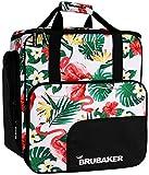 Brubaker CarverSpotlight Skischuhtasche Helmtasche Rucksack mit Schuhfach - Flamingos