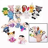 Xrten 16pcs Fingerpuppen Spielzeug für Baby,Samt Handpuppe Set Pädagogische Spielzeug