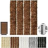 Flauschvorhang, Campingvorhang, Insektenschutz uni farbend, Auswahl: braun - hot chocolate 100 x 200 cm