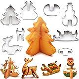 Plätzchen Ausstecher Weihnachten, Ausstechformen Kinder, 8 Stück Edelstahl Keksausstecher, Fondant Ausstecher Backzubehör