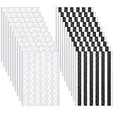 Bememo 2040 Stücke Foto Ecken Selbstklebend für Scrapbook Bild Album (Schwarz und Weiß) (Schwarz und Weiß)