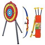 Alomejor Kinder Bogenschießen Set Spielzeug Score Ziel Spiel Sucker Darts Bogenschießen mit Weichen Pfeilen für Garten Terrasse Shooter Spiel
