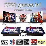 Home Arcade Konsole, 2350 Classic-Spiele Joystick Spielkonsole, Kundenbezogene Schaltflächen, 1920x1080 Full HD, Unterstützt PS3, pielcontroller, HDMI und VGA Ausgang