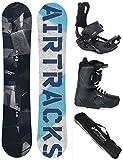 Airtracks Snowboard Set - Board Jungle Wide 150 - Softbindung Master - Softboots Savage Black 41 - SB Bag