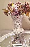 Trumpet Keramikvase Trompetenvase Dekovase Blumenvase Vase Keramik Shabby Chic Rosen 25 cm