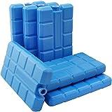 COM-FOUR 6er Pack Kühlakkus, je 200 ml, blau - für die Kühltasche (06 Stück)