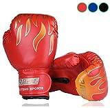 Luniquz Kinder Boxhandschuhe mit Klettschluss Klein Box-Handschuhe für Kinder von 3 - 10 Jahre Training Gloves 6 Unzen zum MMA, Muay Thai, Kickboxen und Sandsack sport - blau
