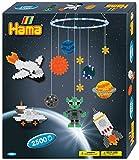 Hama 3231 - Geschenkpackung Mobile Weltraumabenteuer, ca. 2500 Bügelperlen, 2 Stiftplatten und Zubehör