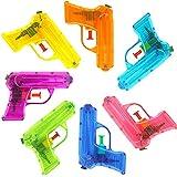 German Trendseller - 6 x Wasserpistolen Transparent ┃ NEU ┃ Mitgebsel ┃ Kindergeburtstag ┃ Kinder Pool Party ┃ 6 Stück