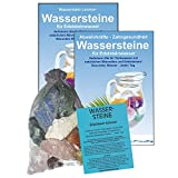 EDELSTEINE für WASSER HERZ & KREISLAUF 4-tlg SET. 300g WASSERSTEINE zur Wasseraufbereitung für Trinkwasser + Anleitung Wasser-Energetisierung + Booklet + Zubehör. 90041