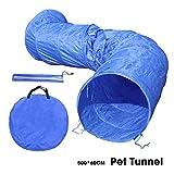OHANA 5m Hundetunnel Hunde Spieltunnel, Agility Set Hunde Agility-Ausrüstung für Hunde mit 12er Bodennägeln