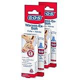 SOS Warzen-Ex-Stift (2er Pack) zur Entfernung gewöhnlicher Warzen