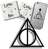 EasyTime UK Harry Potter und die Heiligtümer des Todes Sticker-Set, inkl. Lichtschalteraufkleber