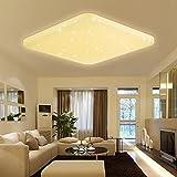 VINGO 60W LED Deckenleuchte Eckig Sternenhimmel Effekt Schlafzimmerleuchte warmweiß Kinderzimmer Badleuchte Schlafzimmer Decken starlight Lampe Mordern Flurlampe Leuchte angenehmes Licht 2700K-3000K