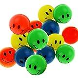 12 Smiley Flummi 38 mm - Mitgebsel Kindergeburtstag