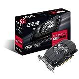 Asus PH-RX550-4G-M7 AMD Radeon Grafikkarte (AMD Radeon RX550, PCIe, 4GB GDDR5 Speicher, DVI, HDMI, DisplayPort)