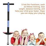 GOTOTOP Kinder Pogostick Hüpfstange Hüpfstab Sprungstange Springstock 2-Modell 4-Farben geeignet für die Kinder ab 8 bis 10 Jahren (unter 40kg) , Sport und Spaß (Blau)
