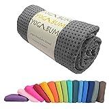 Yogabum rutschfeste Premium-Yoga-Matte Handtuch (Slate Grey)