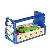 Garosa Holz Kombination Zerlegung Spielzeug Pretend Play Spielzeug Set Handwerkzeug Schraubenschlüssel Kinder Pädagogisches Spiel Spielzeug Geschenke Set