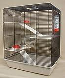 Remy in beige mit Holzaustattung inkl. Trinkflasche und Futternäpfen Nagerkäfig,Hamsterkäfig,Rattenkäfig,Hamster,Ratte,Käfig