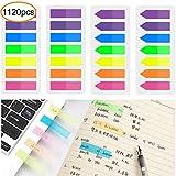 1120 Stück Haftnotizen Bunte Page Marker Flaggen Transparente Haftmarker für Seitenmarkierung, 8 Set