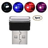 Pawaca Auto USB Beleuchtung, Auto Innenbeleuchtung Atmosphäre Licht Mini Wireless USB Universal LED Licht für Auto&Notizbuch&Energie Bank(4 Color)