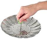 Fackelmann Dünsteinsatz Ø 24 cm, Dämpfeinsatz, Dampfgareinsatz Kochtopf, Siebeinsatz für schonendes Dampfgaren, für gesundes, zart gegartes Gemüse, Menge: 1 Stück