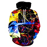 XIELH Pullover Spritzlack 3D Bunt Bedruckte Hoodies Herren Sweatshirt Unisex Trainingsanzug Mode Kapuzenpullover Herren Mäntel-5XL