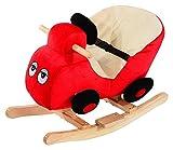 Homcom Schaukelpferd Kinder Schaukeltier Plüsch Schaukel Pferd Baby Schaukelspielzeug Geschenk für Kinder Car (Schaukelauto)