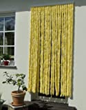 Unbekannt Türvorhang Flauschvorhang Insektenschutz Chenille 100x200 cm gelb/weiss