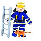 Goki 51636 - Biegepuppe Feuerwehrmann I