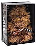 Joy Toy 1601760 - Chewbacca Black Line Plüsch 25 cm aus verschiedenen Materialien (Leder, Kunststoff) mit vielen Details und Exklusiver Star Wars Verpackung