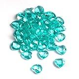 SiDeSo Dekosteine Herzdiamanten Herzen 100 Stück viele Farben Acryl Tischdeko Streudeko Hochzeit (mint)