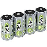 ANSMANN  LSD Mono D Akkubatterie, 1,2 V / Typ 5000mAh / Hochkapazitiver NiMH Akku mit konstant hoher Leistungsabgabe & Langlebigkeit - ideal für Geräte mit hohem Stromverbrauch, 4 Stück