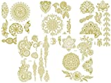 5 Bögen Metallic Flash Tattoo 1-5 Gold Henna Tattoos Temporäre Tattoos