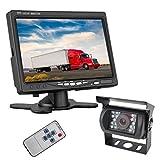 ETiME 7 Zoll LCD Monitor 18 IR LED Rückfahrkamera Monitor Auto LKW Bus wasserdicht Kamera+ 10M Kabel Auto Rückansicht Kit Auto Rückfahrsystem