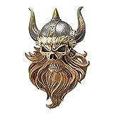 Design Toscano Der Schädel der Walhalla, Wikingerkrieger, Wandfigur
